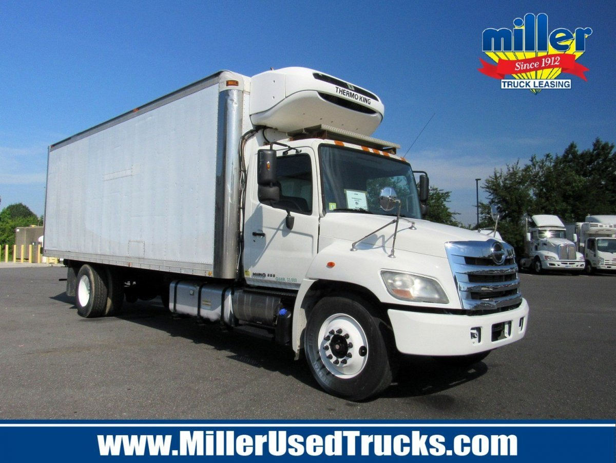 USED 2013 HINO 338 REEFER TRUCK #2674