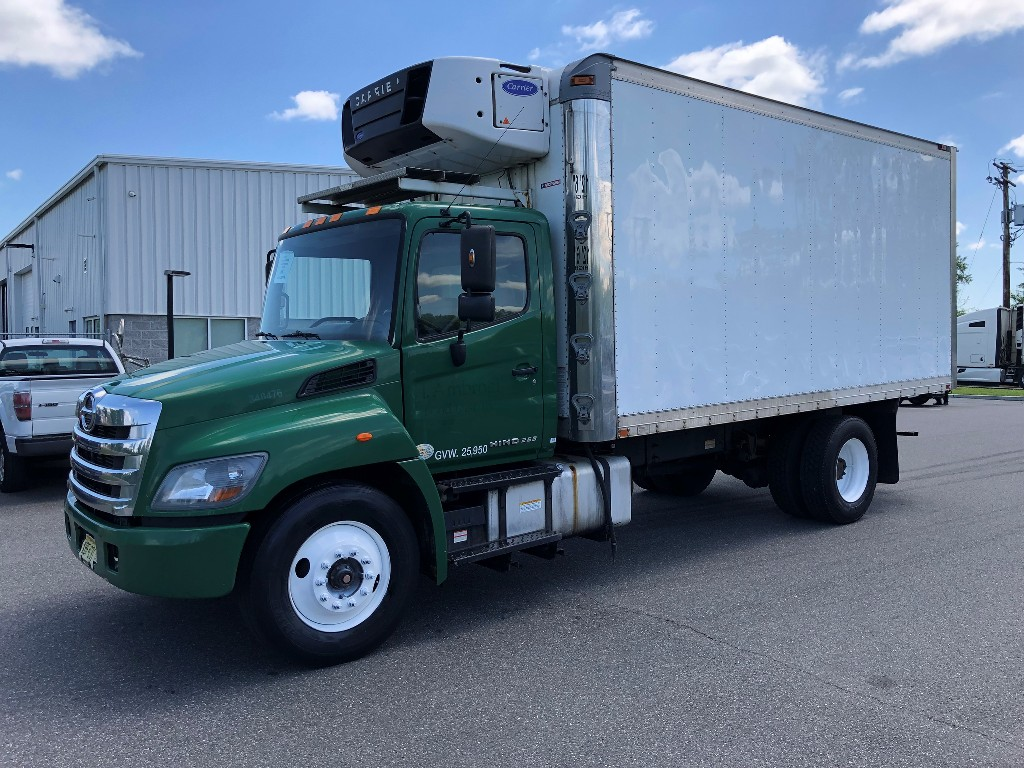 USED 2014 HINO 268A REEFER TRUCK #3037