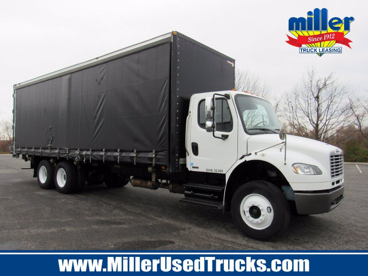 USED 2012 FREIGHTLINER M2016 CURTAIN SIDE TRUCK #637712