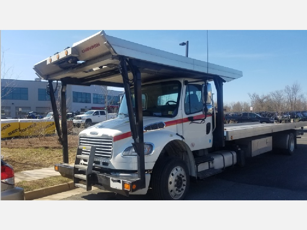 USED 2017 FREIGHTLINER BUSINESS CLASS M2 106 ROLLBACK TRUCK #6492