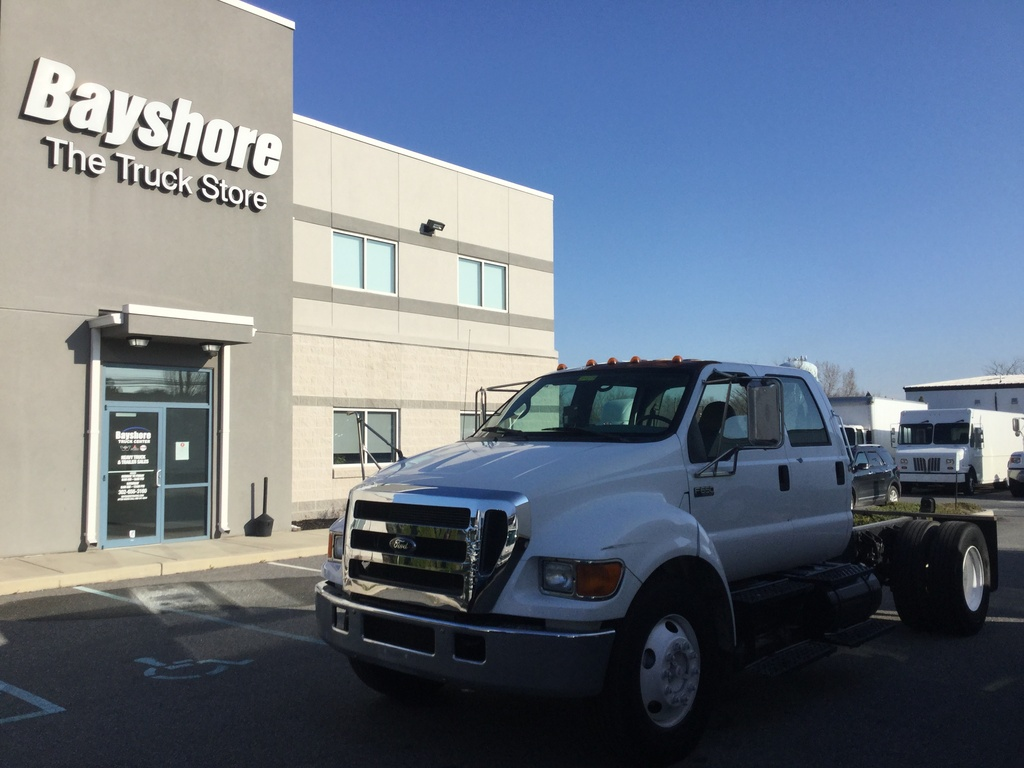 USED 2007 FORD F650 SUPER DUTY CAB CHASSIS TRUCK #10734