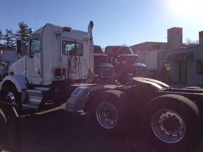 USED 2008 KENWORTH T800 TANDEM AXLE DAYCAB TRUCK #12616-4