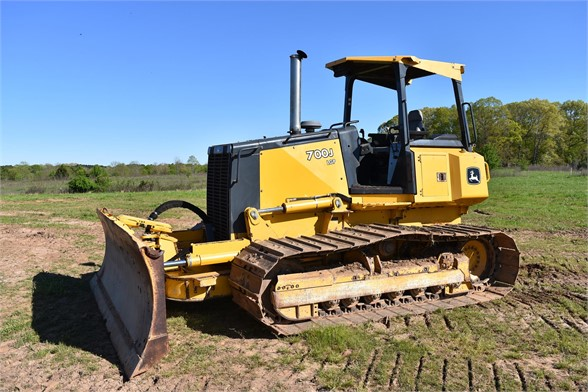 USED 2007 DEERE 700J LGP DOZER EQUIPMENT #2076