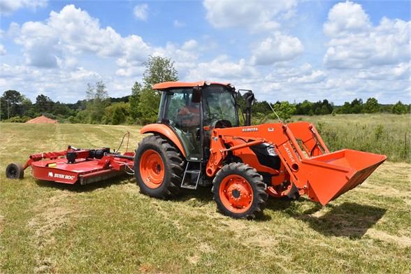 USED 2019 KUBOTA M7060D FARM TRACTOR EQUIPMENT #2133