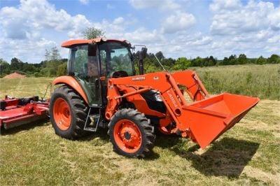 USED 2019 KUBOTA M7060D FARM TRACTOR EQUIPMENT #2133-13