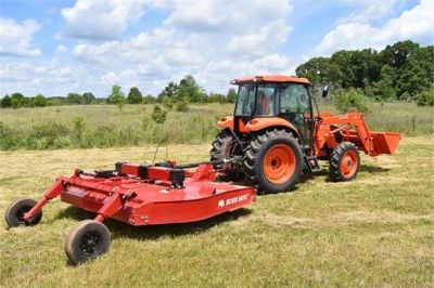 USED 2019 KUBOTA M7060D FARM TRACTOR EQUIPMENT #2133-14