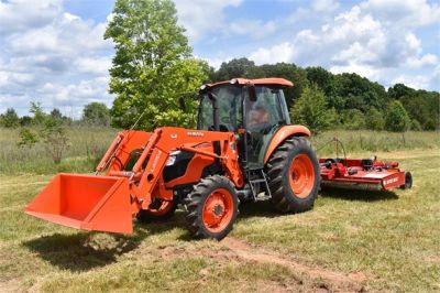 USED 2019 KUBOTA M7060D FARM TRACTOR EQUIPMENT #2133-2