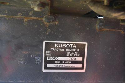USED 2019 KUBOTA M7060D FARM TRACTOR EQUIPMENT #2133-46