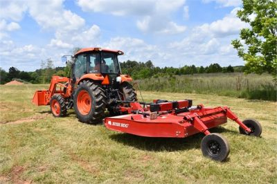 USED 2019 KUBOTA M7060D FARM TRACTOR EQUIPMENT #2133-8