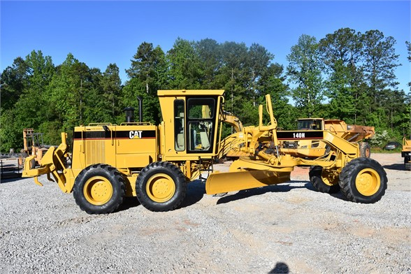 USED 1998 CATERPILLAR 140H MOTOR GRADER EQUIPMENT #2134