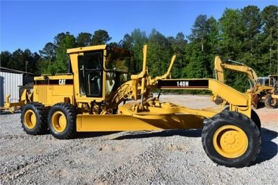USED 1998 CATERPILLAR 140H MOTOR GRADER EQUIPMENT #2134-10