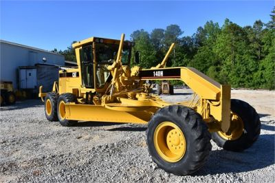 USED 1998 CATERPILLAR 140H MOTOR GRADER EQUIPMENT #2134-11