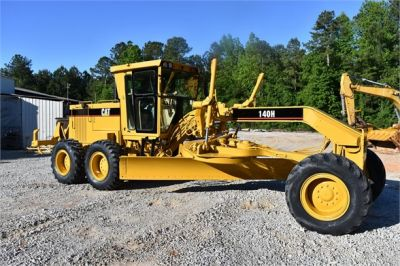 USED 1998 CATERPILLAR 140H MOTOR GRADER EQUIPMENT #2134-12