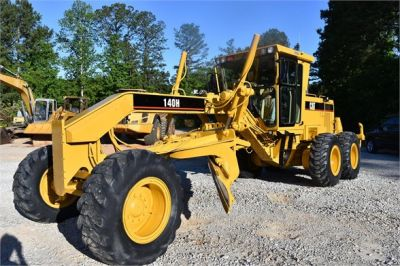 USED 1998 CATERPILLAR 140H MOTOR GRADER EQUIPMENT #2134-4