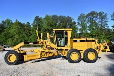 USED 1998 CATERPILLAR 140H MOTOR GRADER EQUIPMENT #2134-6