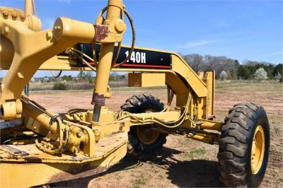 USED 1999 CATERPILLAR 140H MOTOR GRADER EQUIPMENT #2324-18
