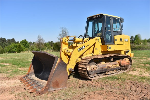 USED 2005 DEERE 755C CRAWLER LOADER EQUIPMENT #2344