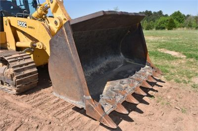 USED 2005 DEERE 755C CRAWLER LOADER EQUIPMENT #2344-17