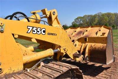 USED 2005 DEERE 755C CRAWLER LOADER EQUIPMENT #2344-21