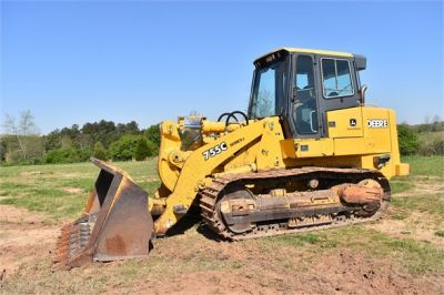USED 2005 DEERE 755C CRAWLER LOADER EQUIPMENT #2344-8