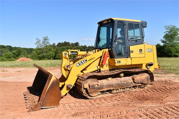 USED 2005 DEERE 655C CRAWLER LOADER EQUIPMENT #2368