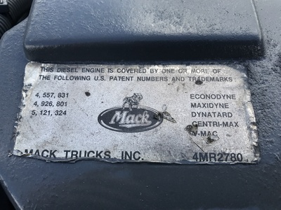 USED 2000 MACK E7 - 355/380 TRUCK ENGINE TRUCK PARTS #1067-10