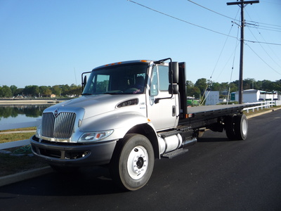 USED 2011 INTERNATIONAL 4400 FLATBED TRUCK #11237-1