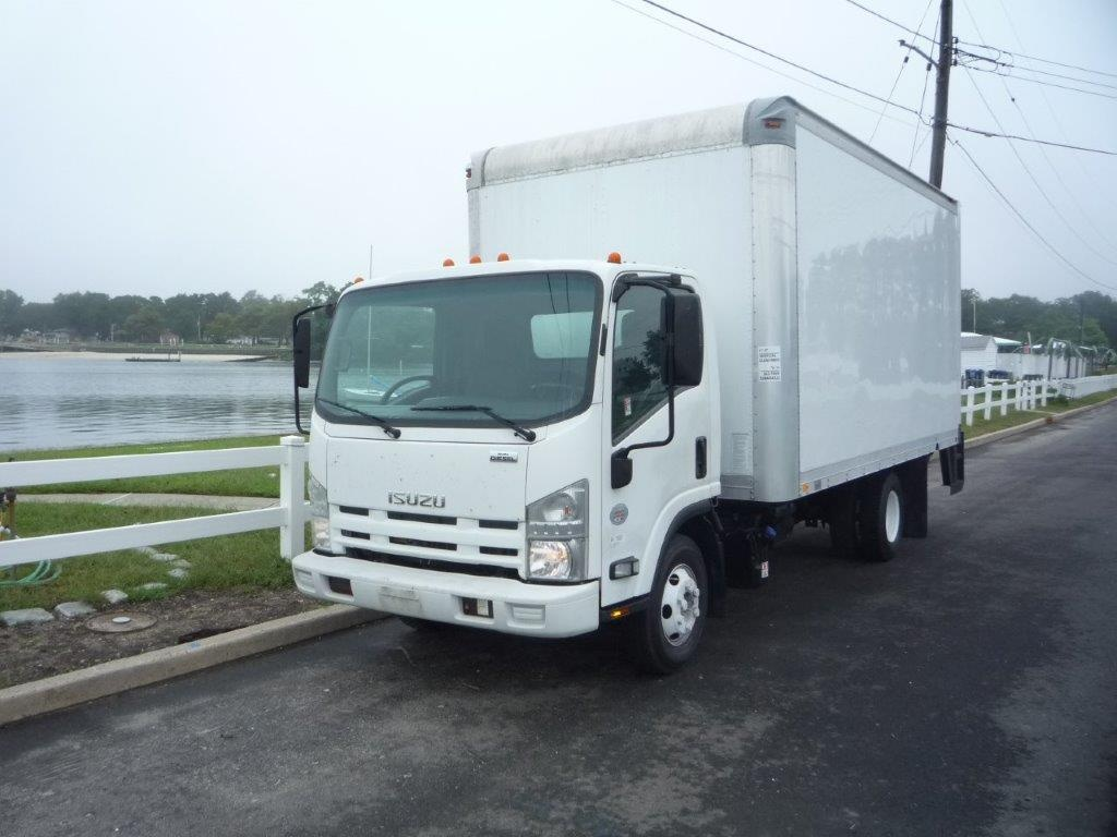 USED 2011 ISUZU NPR HD BOX VAN TRUCK #11451