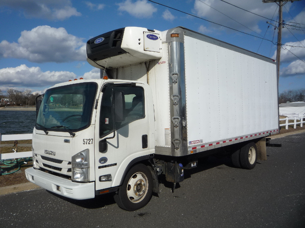 USED 2017 ISUZU NQR REEFER TRUCK #11972