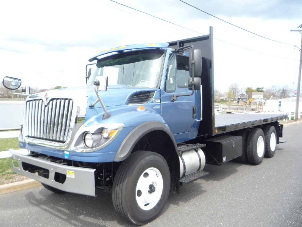 USED 2015 INTERNATIONAL 7400 FLATBED TRUCK #12022