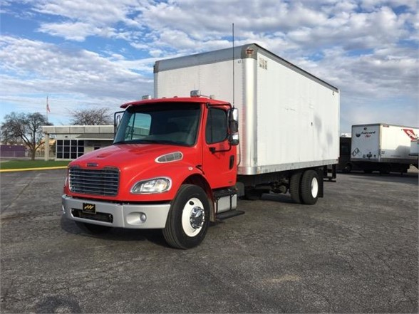 USED 2007 FREIGHTLINER BUSINESS CLASS M2 106 BOX VAN TRUCK #1067