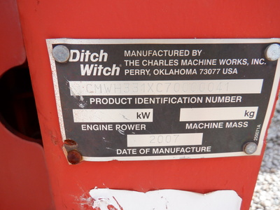 USED2007DITCHWITCHH331VIBRATORYPLOW #3003-6