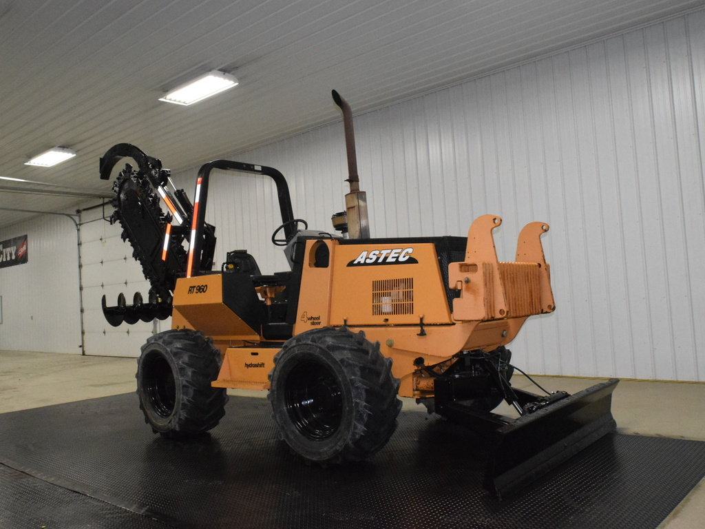 USED 2005 ASTEC RT960 RIDE-ON TRENCHER - VIBRATORY PLOW EQUIPMENT #3121