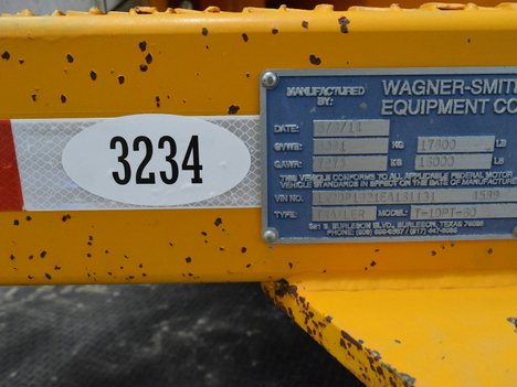 USED 2014 WAGNER-SMITH T-1DPT-60 UNDERGROUND EQUIPMENT #3234-26