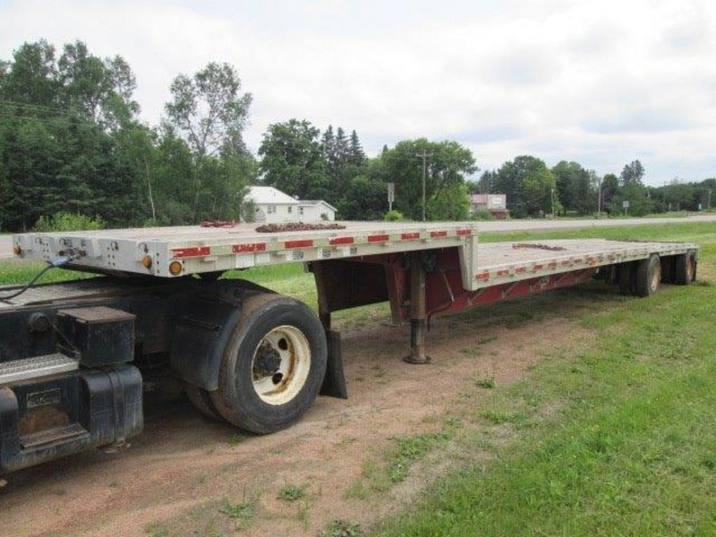 USED 1998 WILSON CFD-900 DROP DECK TRAILER #1086