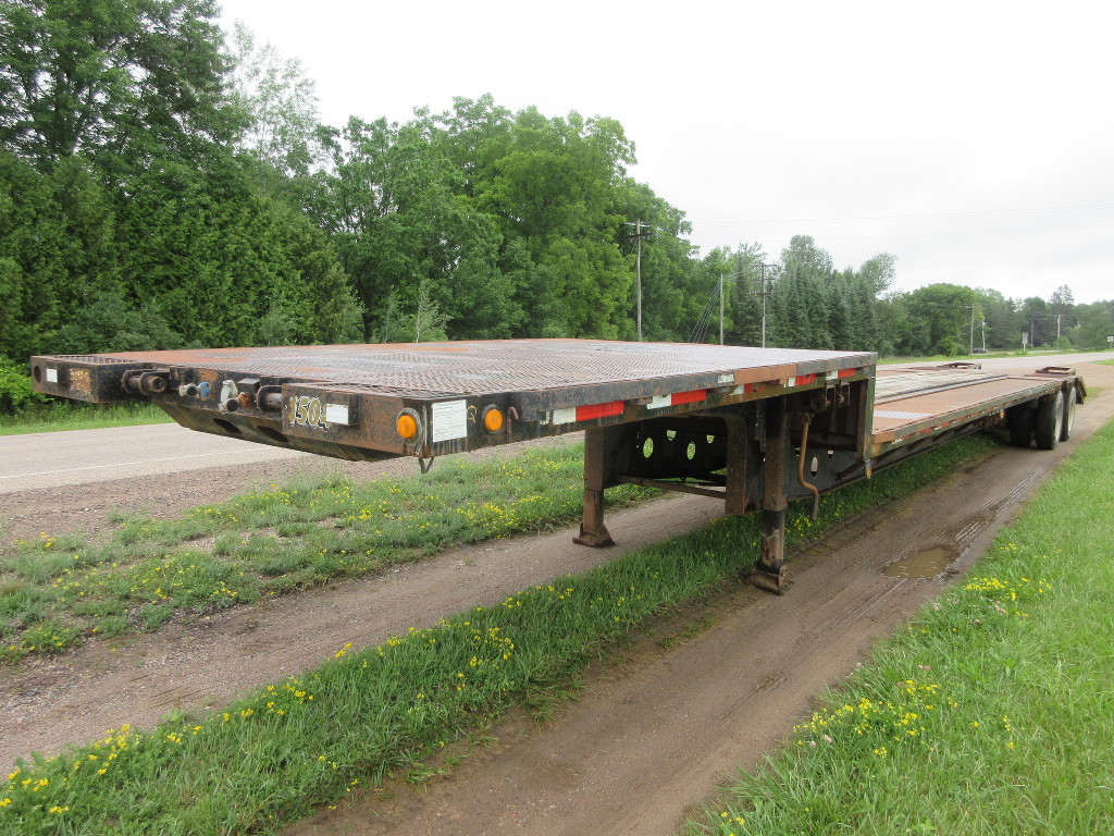 USED 2000 DOONAN 482DB14F5 DROP DECK TRAILER #1087