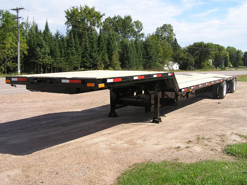 USED 2001 TRANSCRAFT DTL 2000 W2 DROP DECK TRAILER #1093