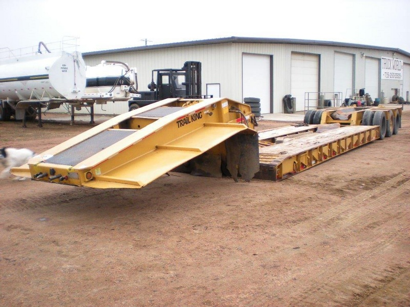 USED 1989 TRAIL KING TK80DG-473 LOWBOY TRAILER #1118