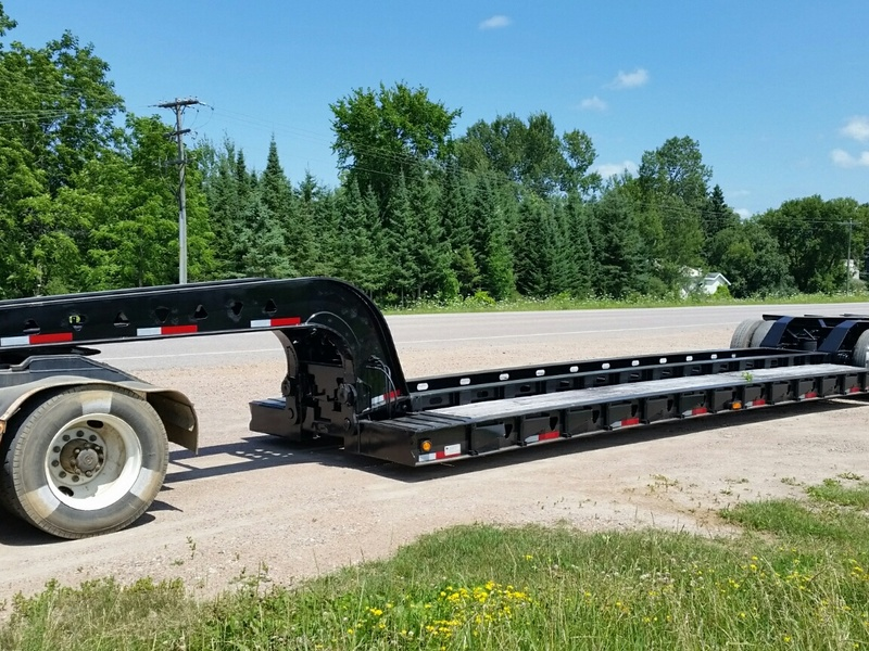 USED 1999 TRAIL KING TK110MDG-523 LOWBOY TRAILER #1128