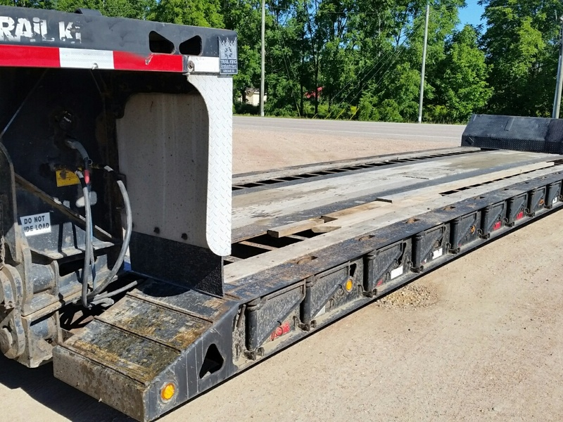 USED 2005 TRAIL KING TK60MG-482 LOWBOY TRAILER #1567