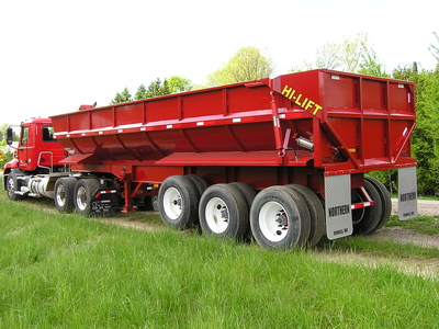 USED 2017 NORTHERN END DUMP END DUMP TRAILER #1689-4