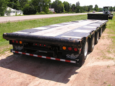 USED 2014 MANAC 14453A040 DROP DECK TRAILER #1700-4