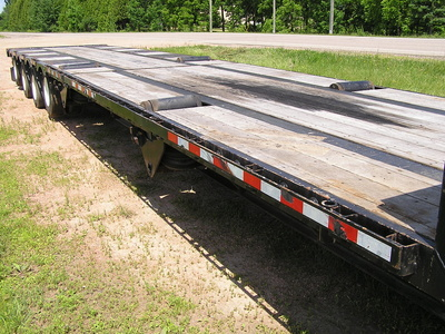 USED 2014 MANAC 14453A040 DROP DECK TRAILER #1700-6