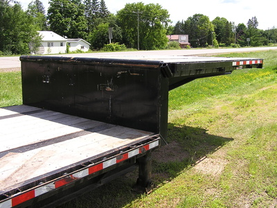 USED 2014 MANAC 14453A040 DROP DECK TRAILER #1700-8