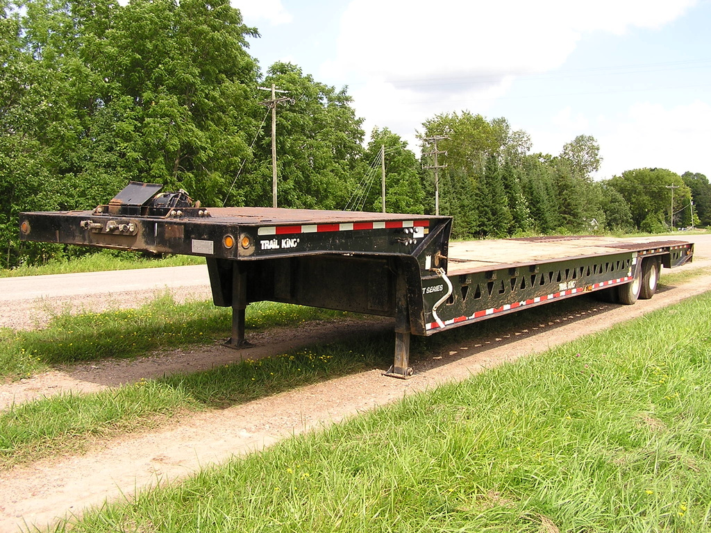 USED 2000 TRAIL KING TK70HT-482 DROP DECK TRAILER #1779
