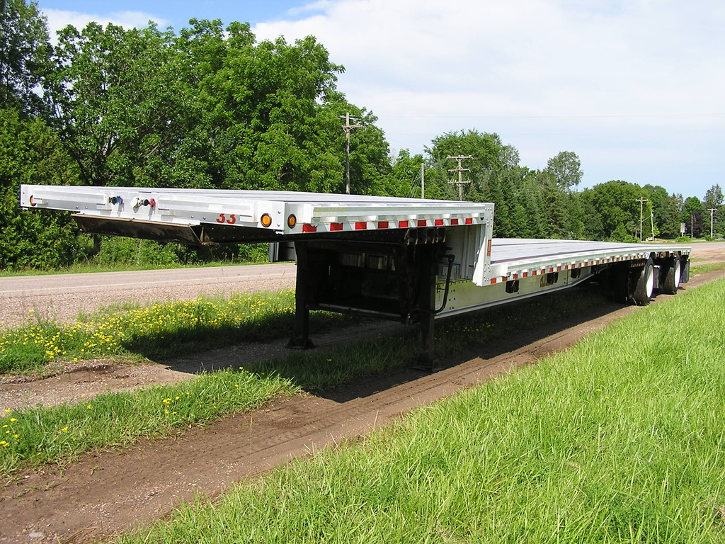 USED 2007 CHAPARRAL DROP DECK TRAILER #1783