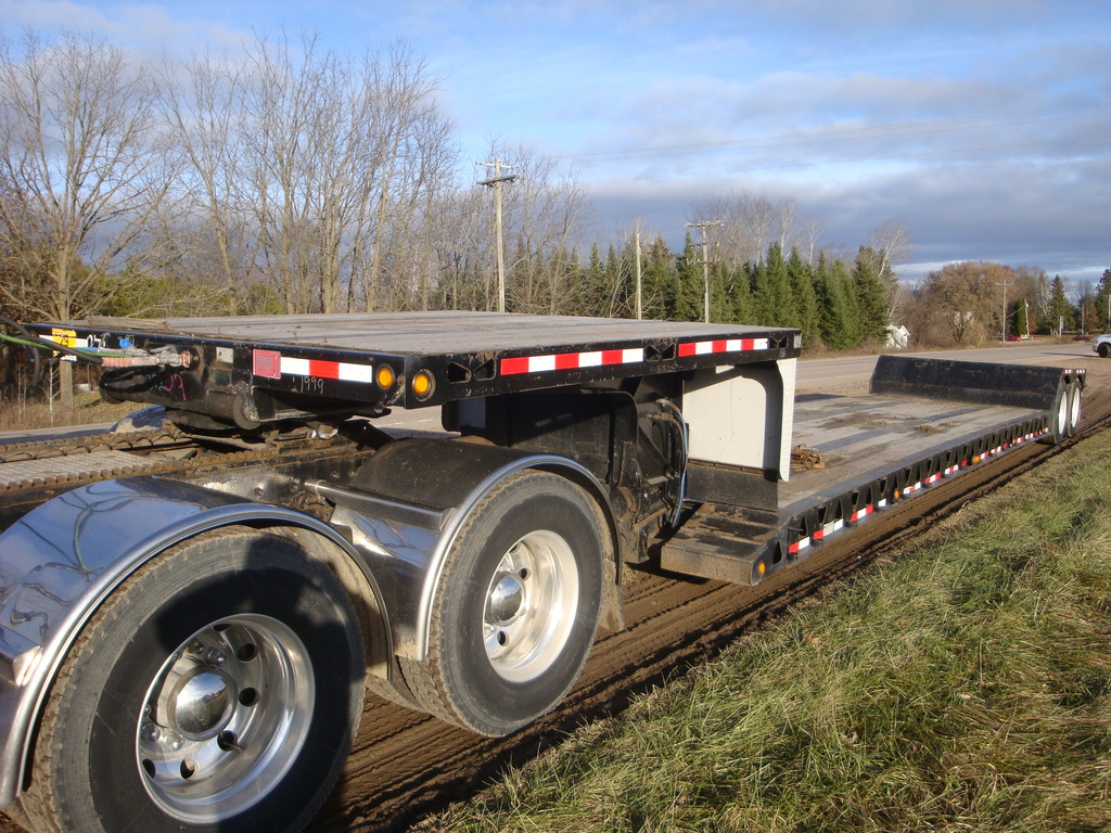 USED 1999 TRAIL KING TK60MG-482 LOWBOY TRAILER #1873