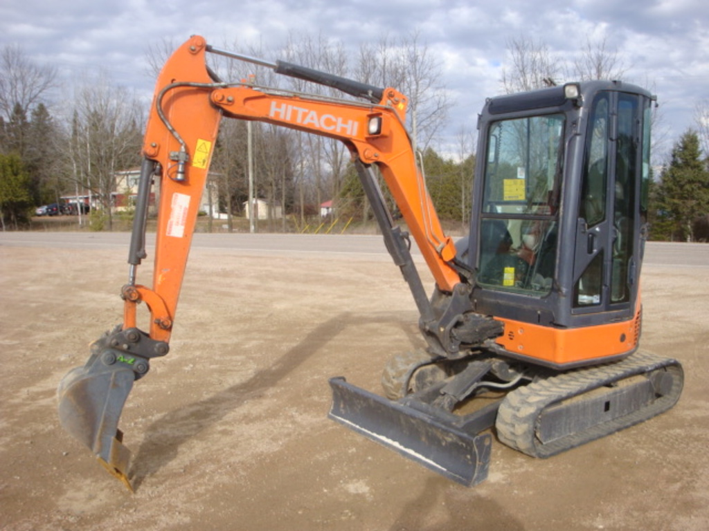 USED 2012 HITACHI ZX29U-3CLR MINI EXCAVATOR EQUIPMENT #1874