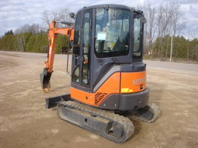 USED 2012 HITACHI ZX29U-3CLR MINI EXCAVATOR EQUIPMENT #1874-3