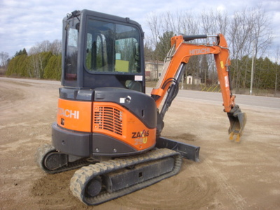 USED 2012 HITACHI ZX29U-3CLR MINI EXCAVATOR EQUIPMENT #1874-4